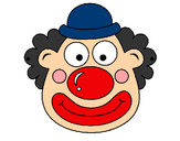 Coloring page Clown painted byadricasa