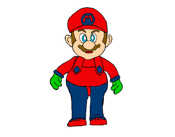 Limpurtikles Mario Colored: Colored Page Mario Painted By Adricasa