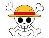 Coloring page Straw hat flag painted byFilinguim