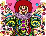 Coloring page Clown dressed up painted byRAYA