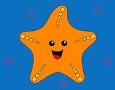 Coloring page Starfish painted byadricasa