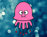 Coloring page Fun Jellyfish painted byAsia