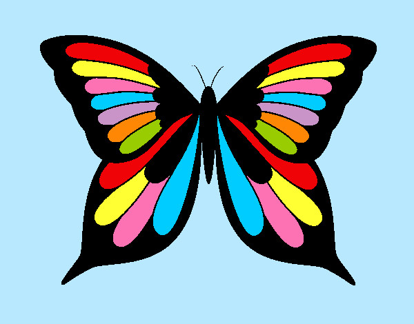 Coloring page Butterfly 8 painted byems76