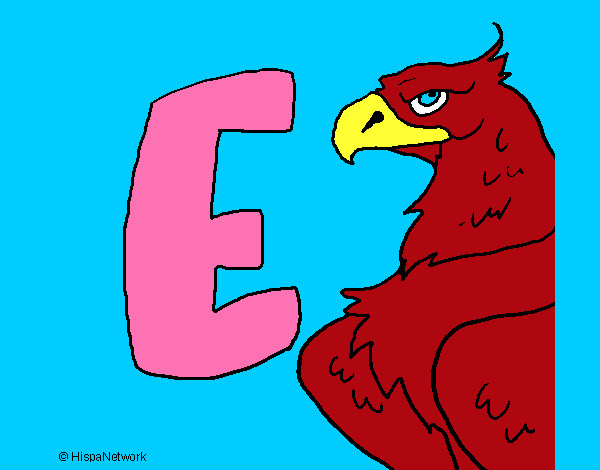 Coloring page Eagle painted byems76
