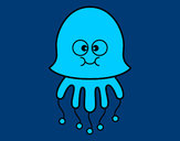Coloring page Fun Jellyfish painted byems76