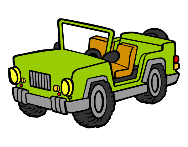 Coloring page Jeep painted bySebasss