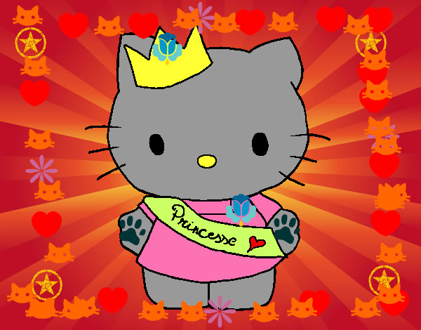 Coloring page Princess Kitty painted byems76