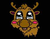 Coloring page Elk face painted byMakBarbie