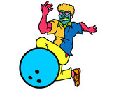 Coloring page Man bowling painted byonnoleehan
