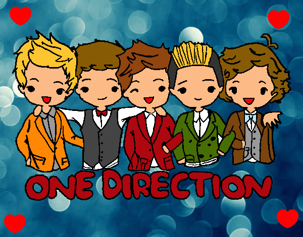Coloring page One direction painted byRohyn
