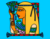 Coloring page Cleopatra painted byJDWR