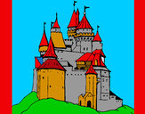 Coloring page Medieval castle painted byJDWR