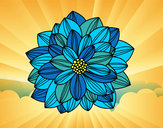 Coloring page Dahlia flower painted byGemma