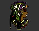Coloring page Cleopatra profile painted bySherry855