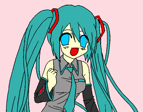 hatsune miku coloring page chibi coloring pages coloringcrew