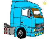 Coloring page Truck 5 painted bythomas