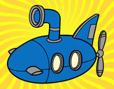 Coloring page Submarine painted bytippytim
