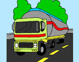 Coloring page Tanker painted bybung