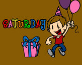 Coloring page Saturday painted byphoenix