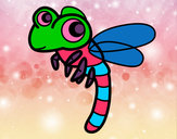 Coloring page Dragonfly flying painted byeden