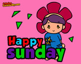 Coloring page Happy sunday painted byeden