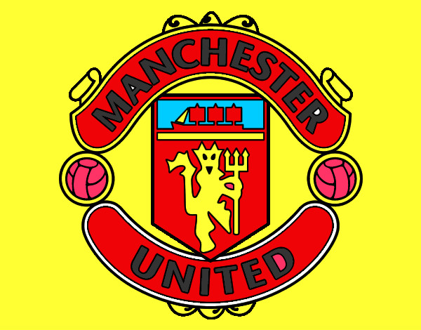 Colored page manchester united fc crest painted by matty for Manchester united coloring pages