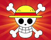 Coloring page Straw hat flag painted bySebastian