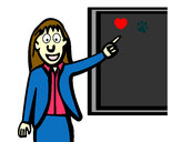 Coloring page Teacher II painted byBecka