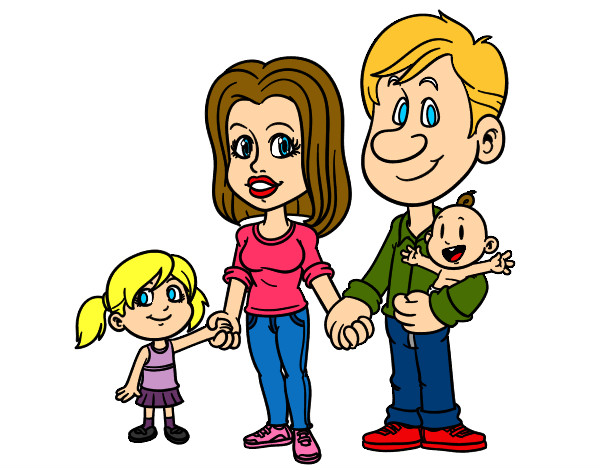 Coloring page Happy family painted byBigricxi