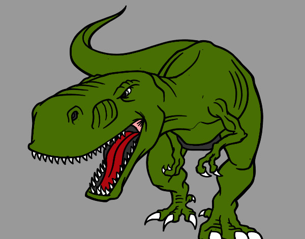 Coloring page Angry dinosaur painted byBigricxi