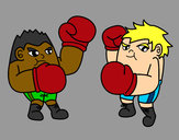 Coloring page Boxing match painted byBigricxi