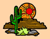 Coloring page Colorado Desert painted byBigricxi