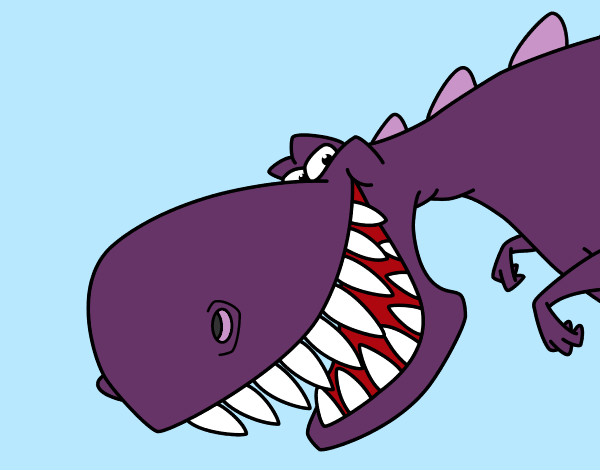 Coloring page Dinosaur with sharp teeth painted byBigricxi