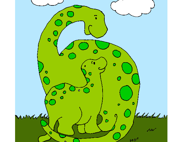 Coloring page Dinosaurs painted byBigricxi