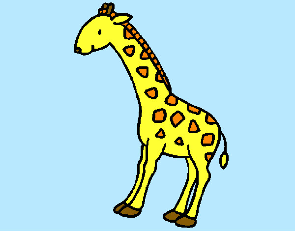 Coloring page Giraffe 2 painted byBigricxi