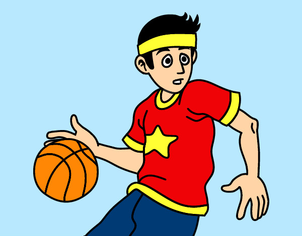 Coloring page Junior basketball player painted byBigricxi