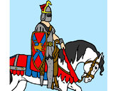 Coloring page Knight on horseback painted byBigricxi