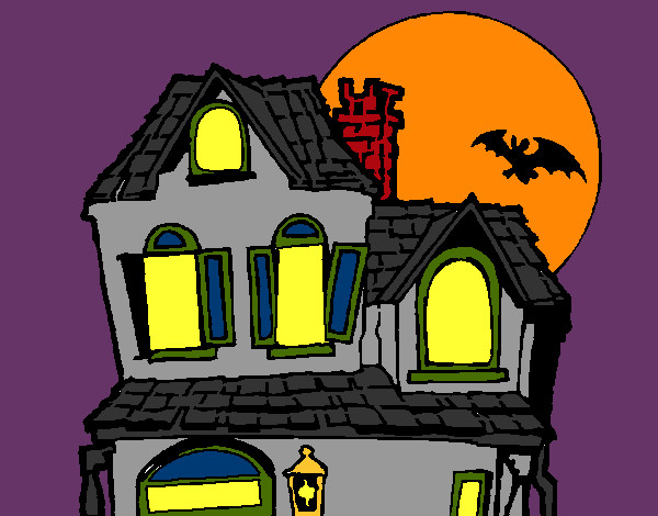 Coloring page Mysterious house painted byBigricxi