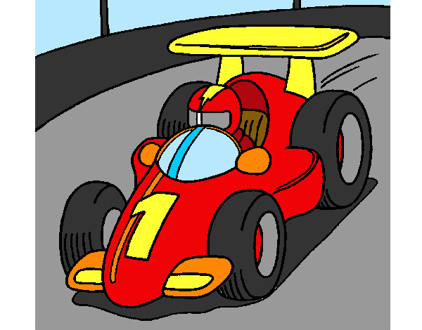 Coloring page Racing car painted byBigricxi