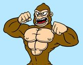 Coloring page Strong gorilla painted byBigricxi