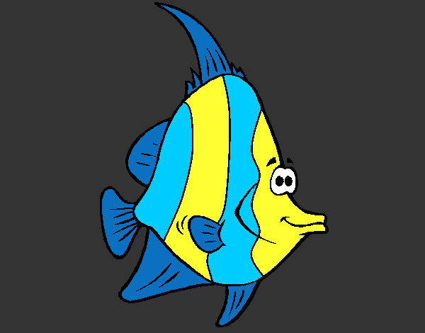 Coloring page Tropical fish painted byBigricxi