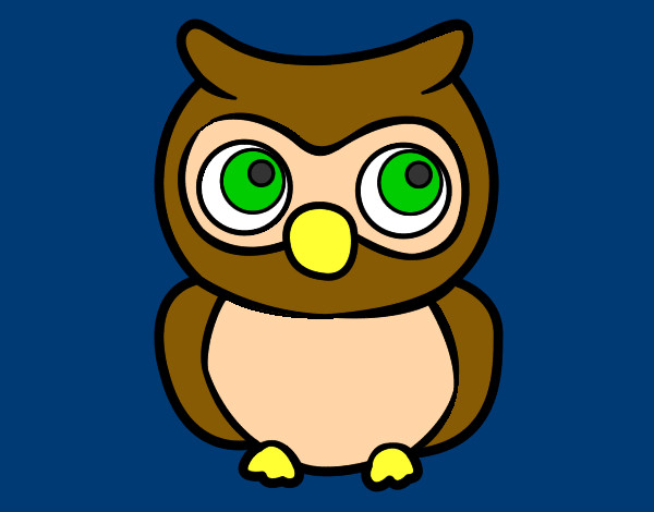 Coloring page Young Owl painted byBigricxi