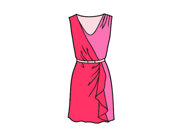 Coloring page Simple dress painted bymaja5