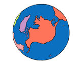 Coloring page Planet Earth painted byMissFranky