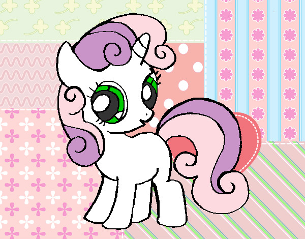 sweetie belle coloring pages - colored page sweetie belle painted by k brony