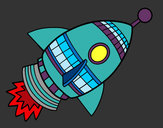 Coloring page Space Rocket painted byShebear