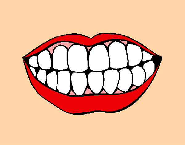 Coloring page Mouth and teeth painted bymaja5
