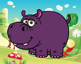 Coloring page The hippopotamus painted bylynn22
