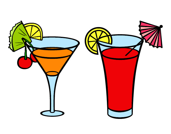 Coloring page Two cocktails painted bymaja5