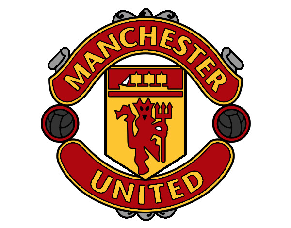 Colored page manchester united fc crest painted by striker for Manchester united coloring pages